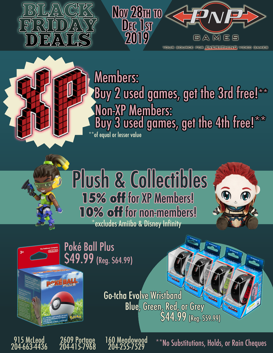 Pnp Games Black Friday Weekend Sale 2019 Pnp Games